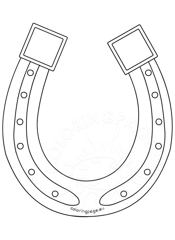 Printable Saint Patricks Day horseshoe  Coloring Page
