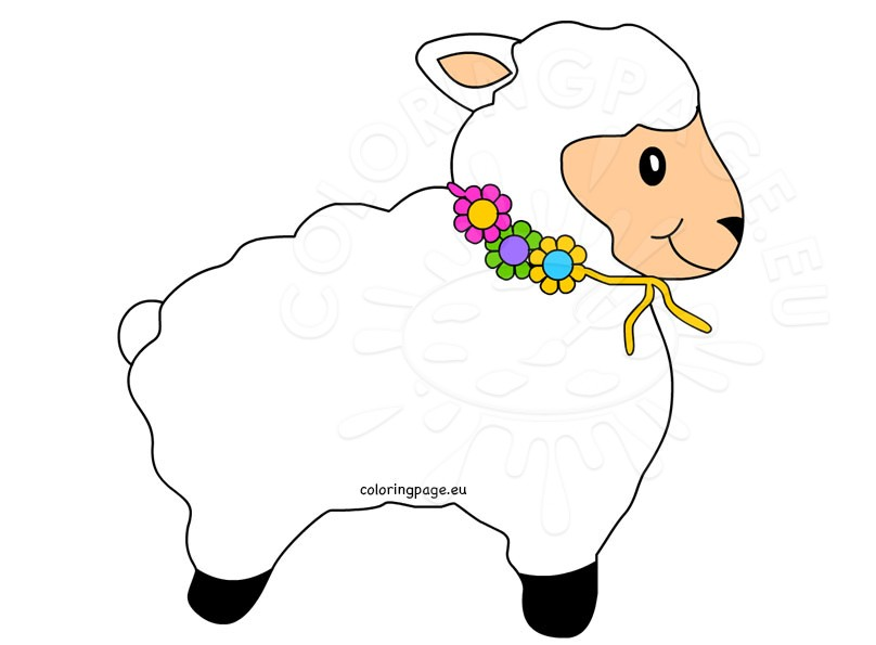 Cute Lamb Clipart Kid
