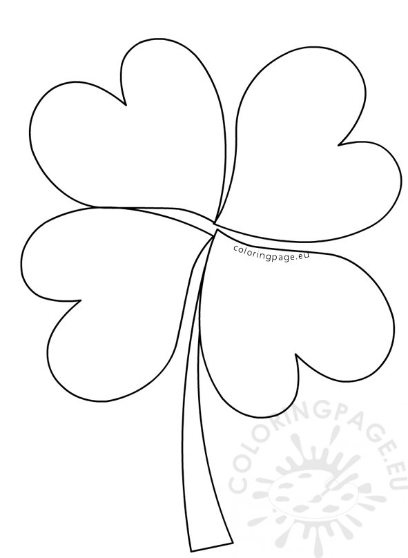 Large four leaf clover pattern preschool