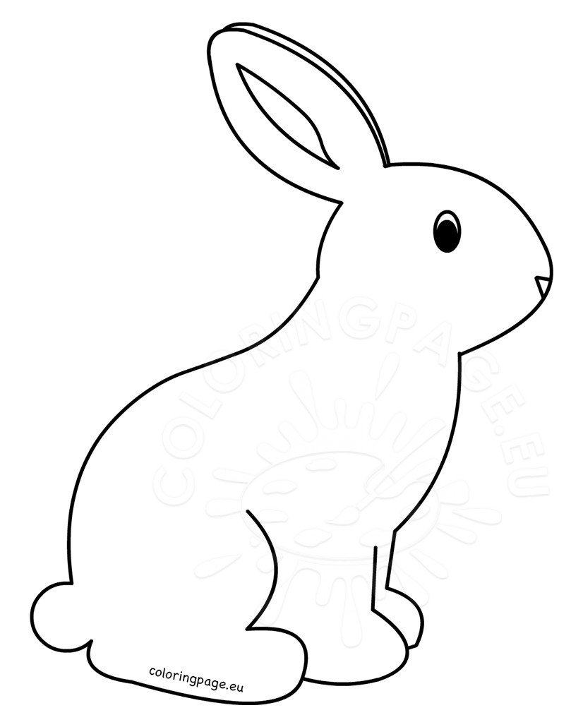 printable rabbit coloring pages for kids - Rabbit Coloring Page