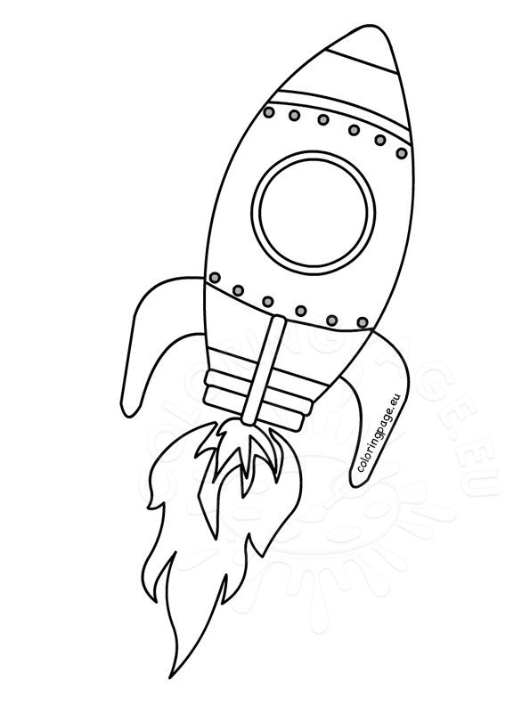Rocket coloring page for preschool | Coloring Page