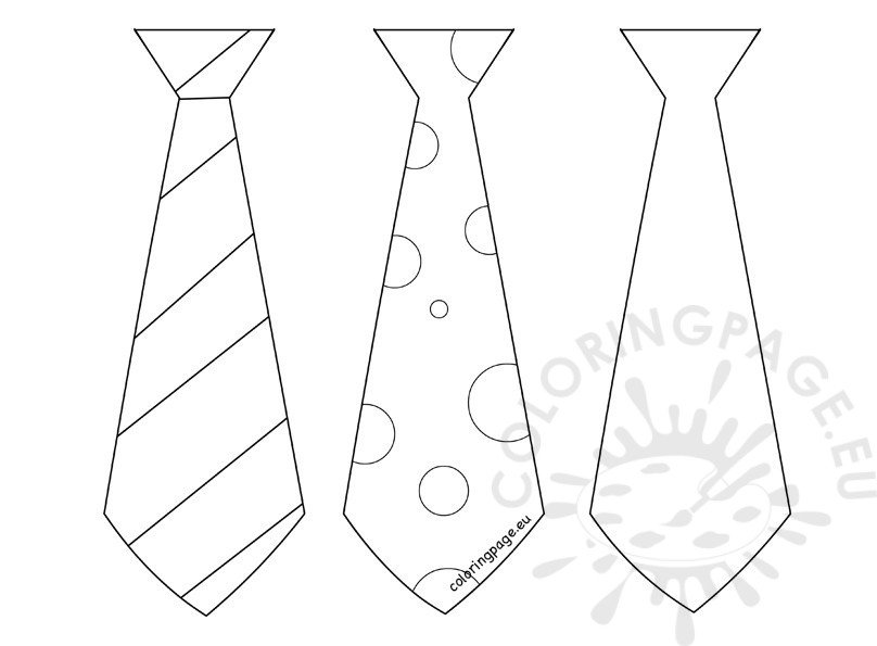 Father's Day craft Three Tie template