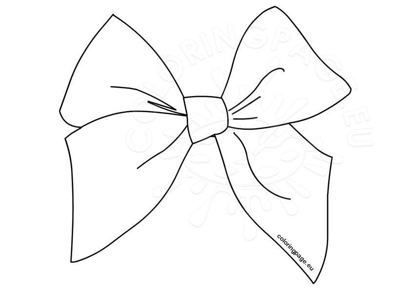 White Bow Clip Art | Coloring Page