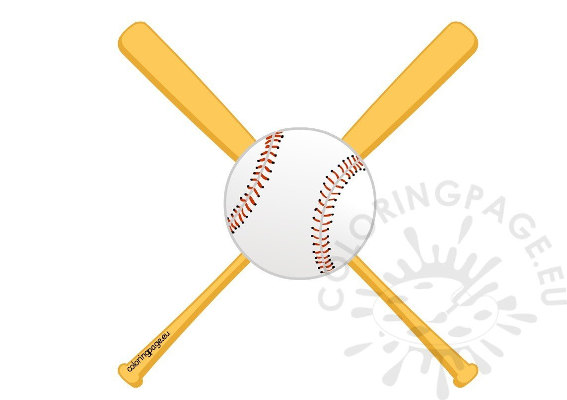 Baseball bat twins baseball clipart