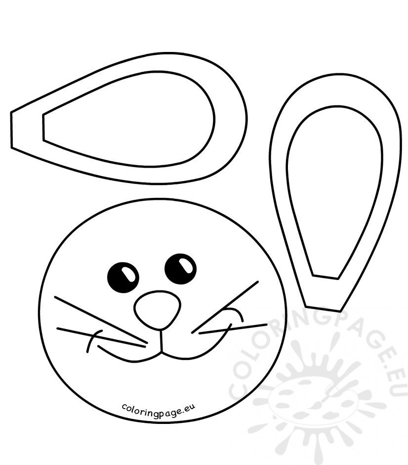Easter bunny face pattern Coloring Page