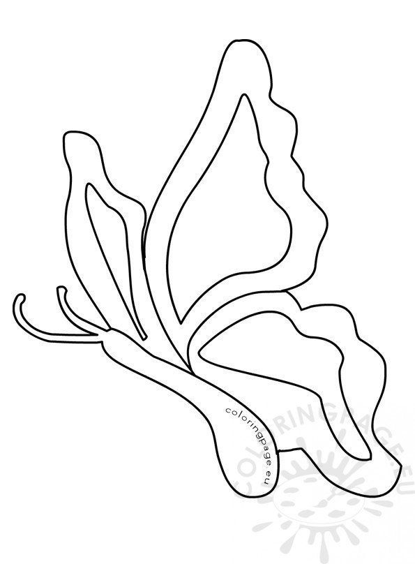 shape butterfly coloring pages - photo#9