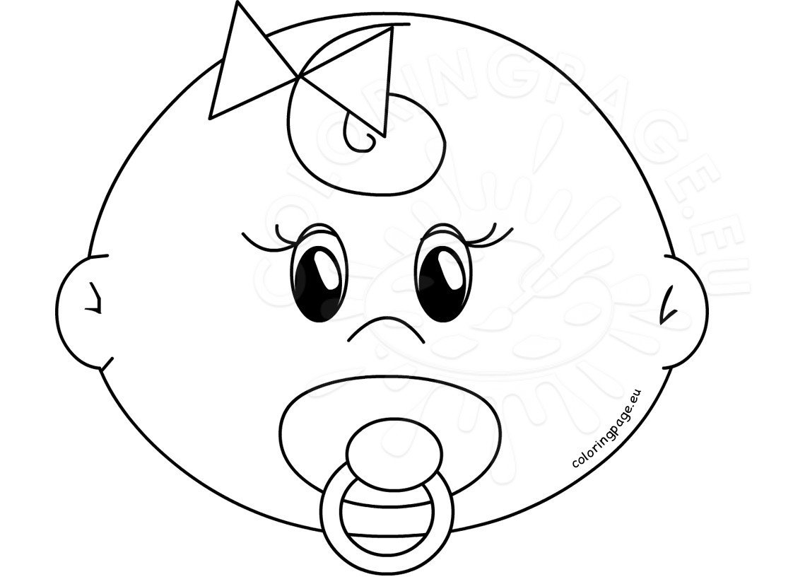 blank baby face coloring page