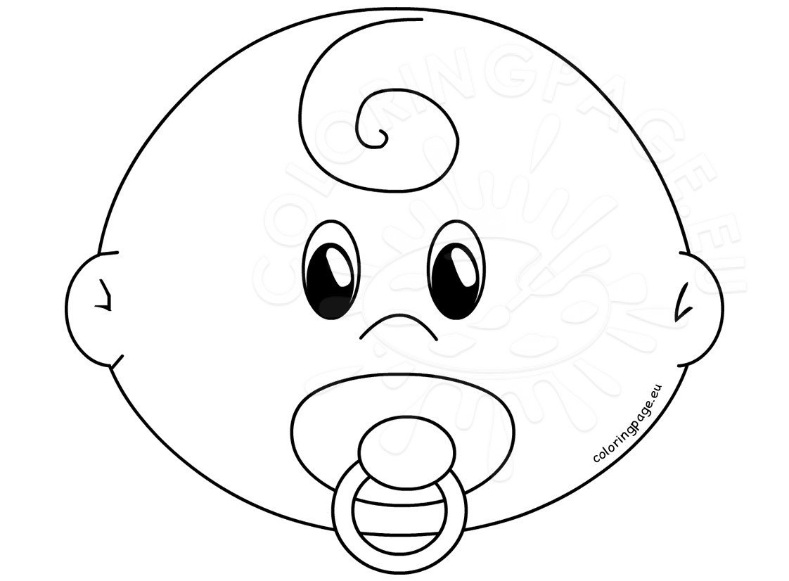 Baby Face With Pacifier Template