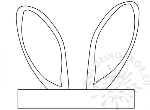 Coloring pages bunny ears coloring page for Bunny ears headband template