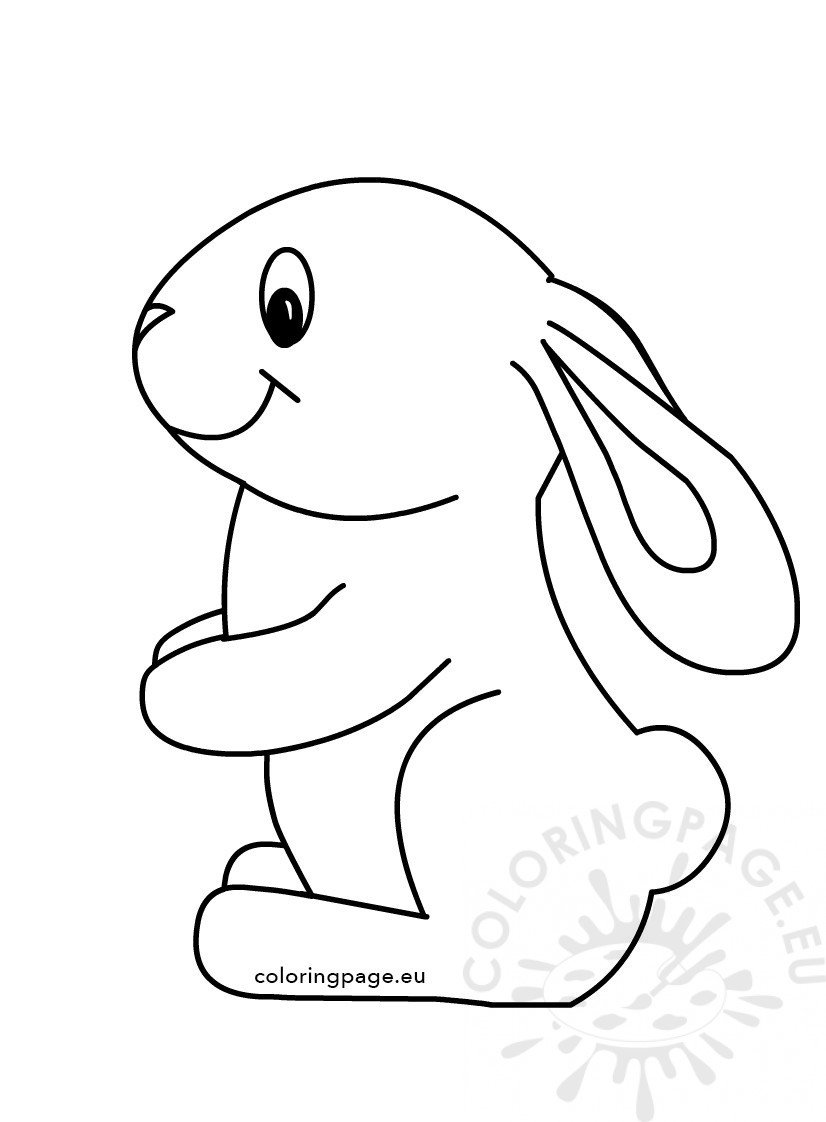 Easter Cute Bunny Coloring Kids | Coloring Page