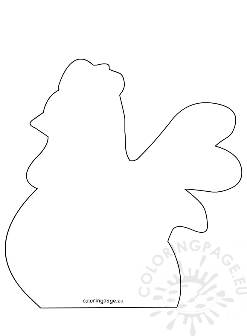 Easter crafts Easter hen template