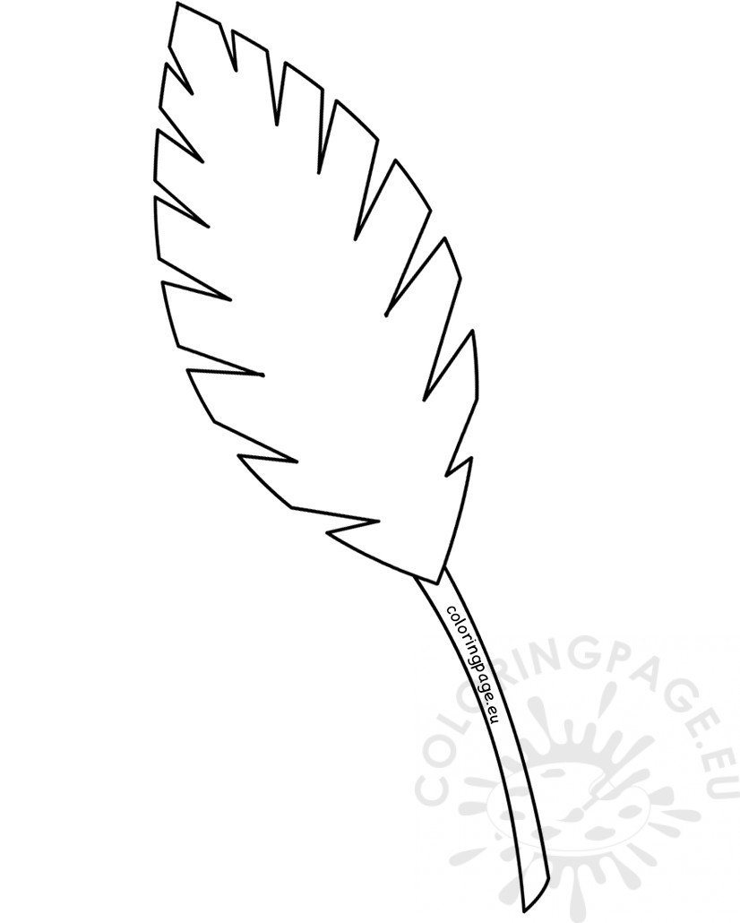 Palm Leaf Coloring Page