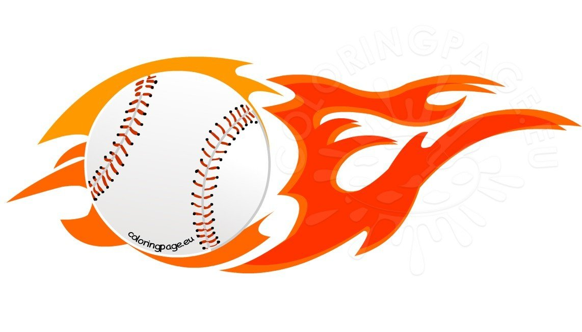 Illustration Flame Baseball Vector