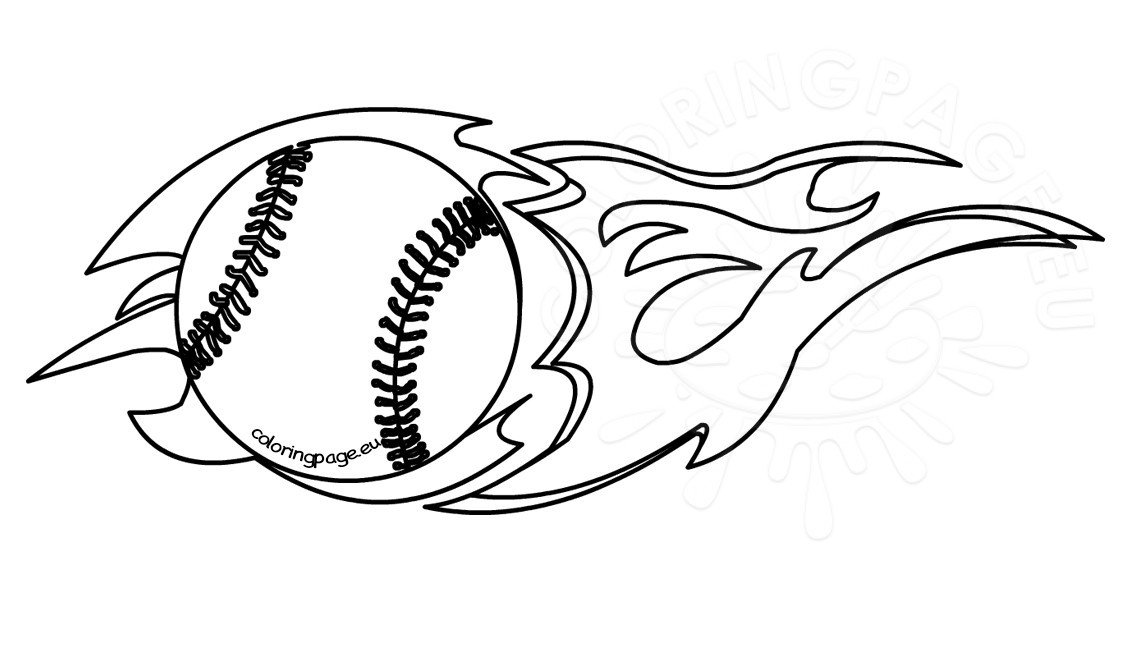 flaming baseball clipart black and white coloring page rh coloringpage eu baseball diamond clipart black and white baseball bat clipart black and white