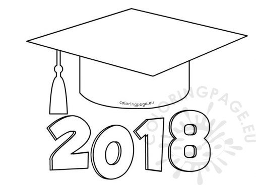 graduation cap and diploma coloring pages - school coloring page