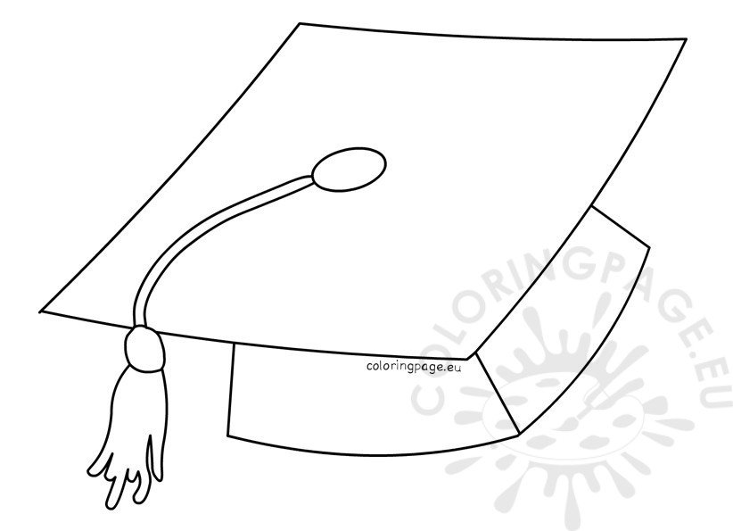 Printable Graduation Hat Template | Coloring Page