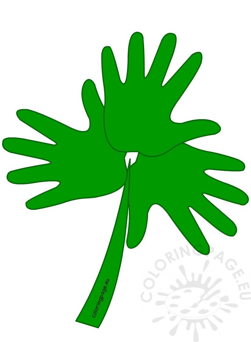 St Patrick's Day Handprint Shamrock