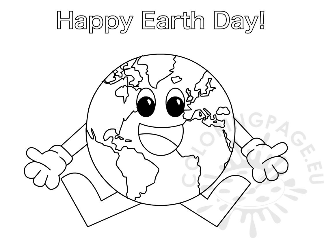 earth day coloring page for preschoolers