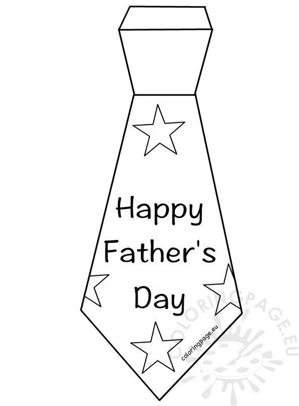 fathers day coloring pages of ties | Happy Father's Day Tie template – Coloring Page