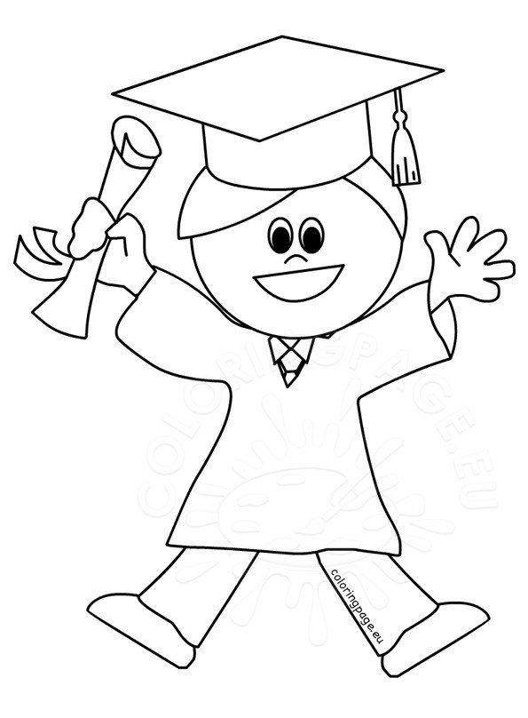 Images Happy graduated student - Coloring Page