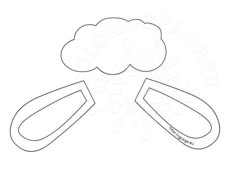 Lamb ears template easter craft coloring page for Lamb cut out template