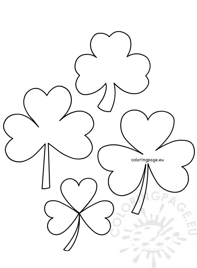 St Patrick's Day Shamrock Templates