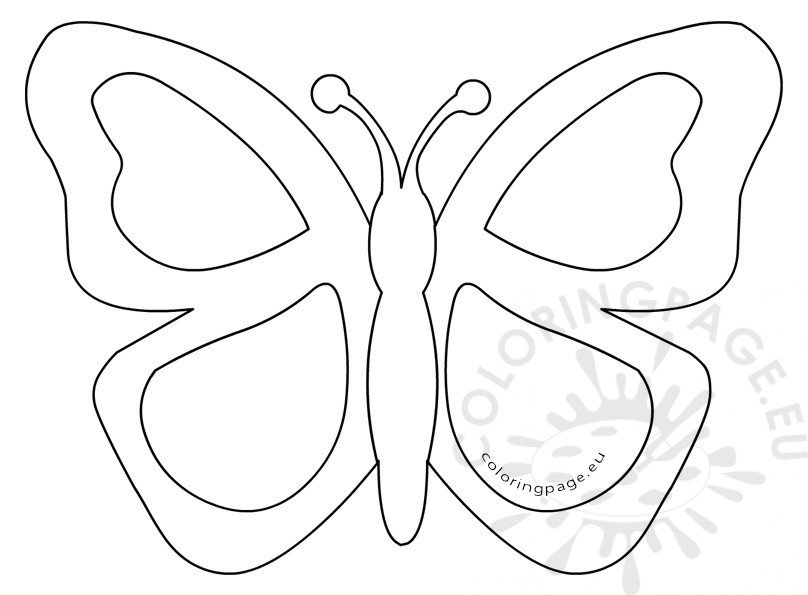 Simple Butterfly Stained Glass Template | Coloring Page