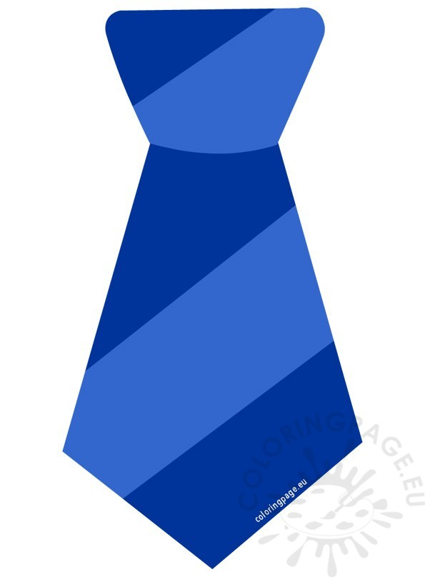 Striped Blue Tie Clipart | Coloring Page