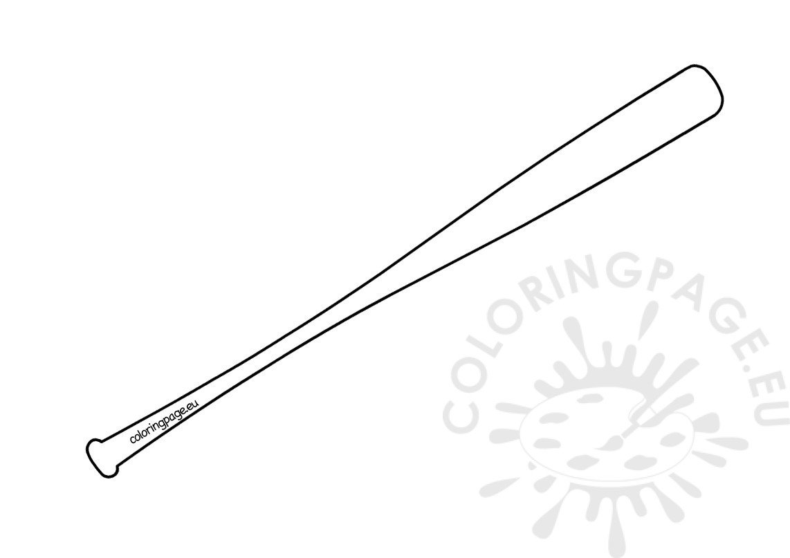 Baseball bat template printable | Coloring Page