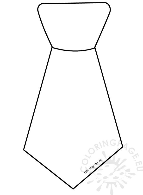 Tie template Father\'s day 2017 – Coloring Page