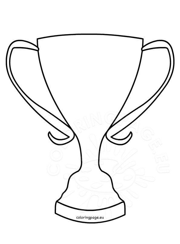 Trophy Coloring Page Winner cup shape | Coloring Page