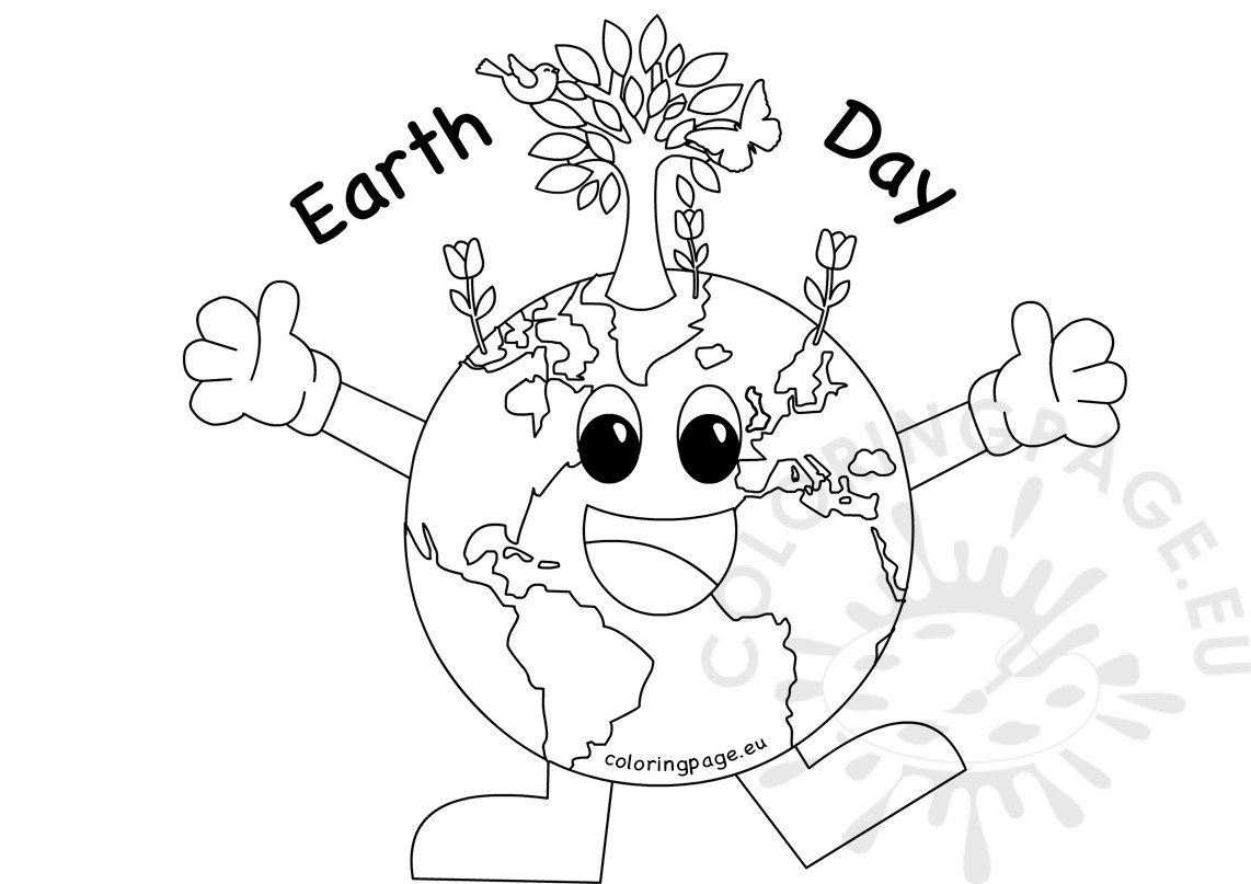 Coloring pages earth day - Earth Day 2017 Coloring Sheet