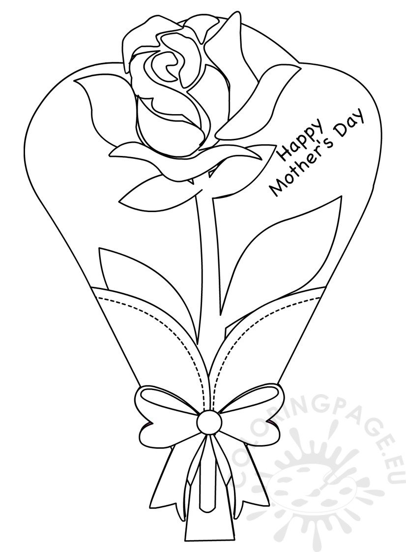 flower greeting card rose coloring pages of kids coloring page