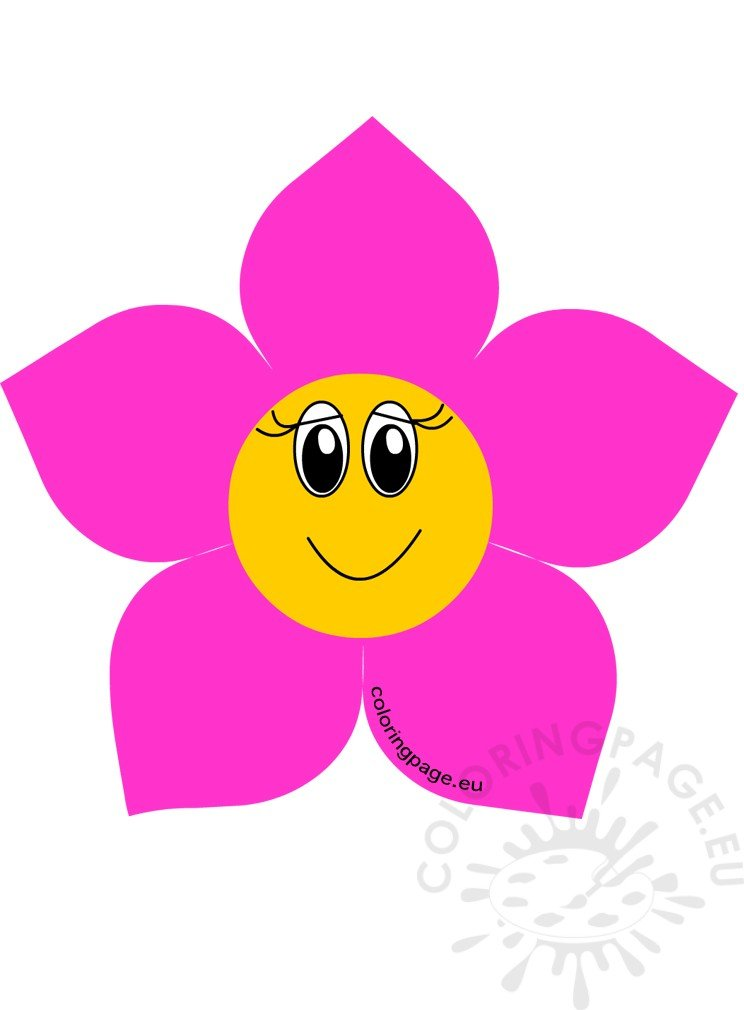 Flower head cartoon clipart