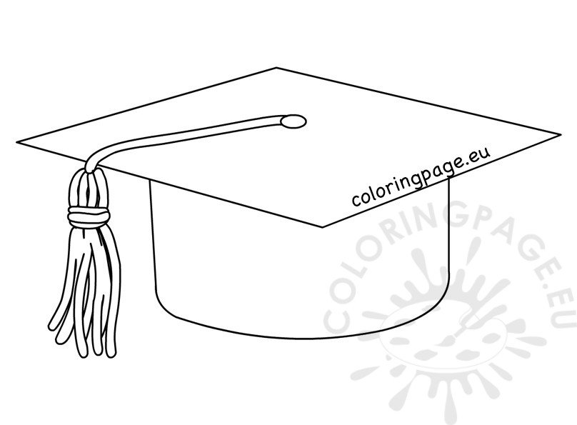 High School Graduation hat cap line art