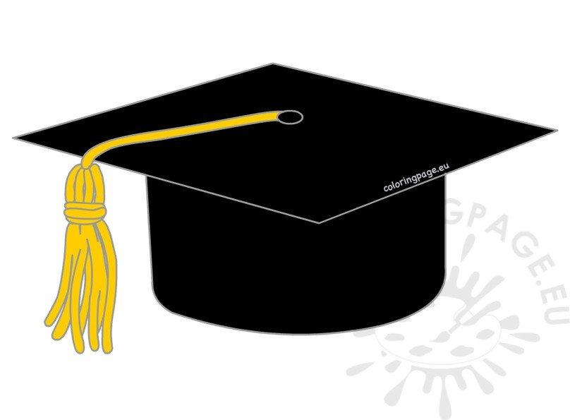 black graduation cap clipart coloring page rh coloringpage eu graduation cap clipart outline graduation cap clipart png