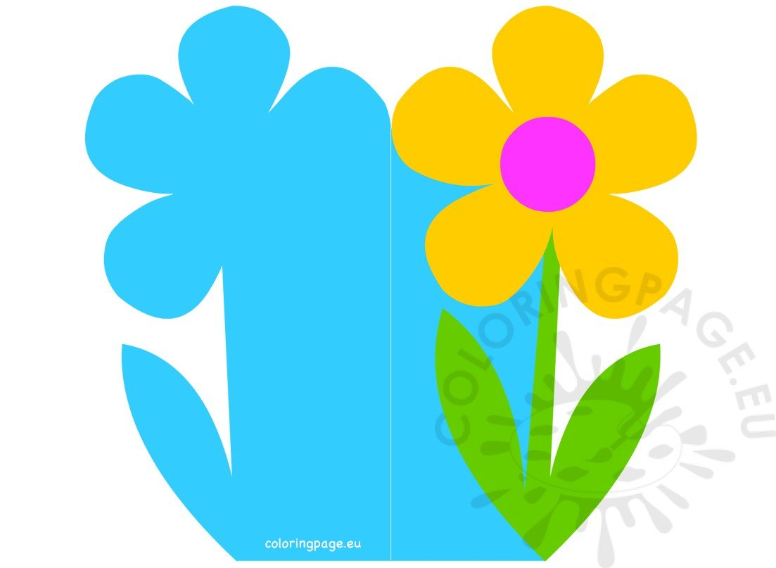 Happy Mother's Day cut out card flower