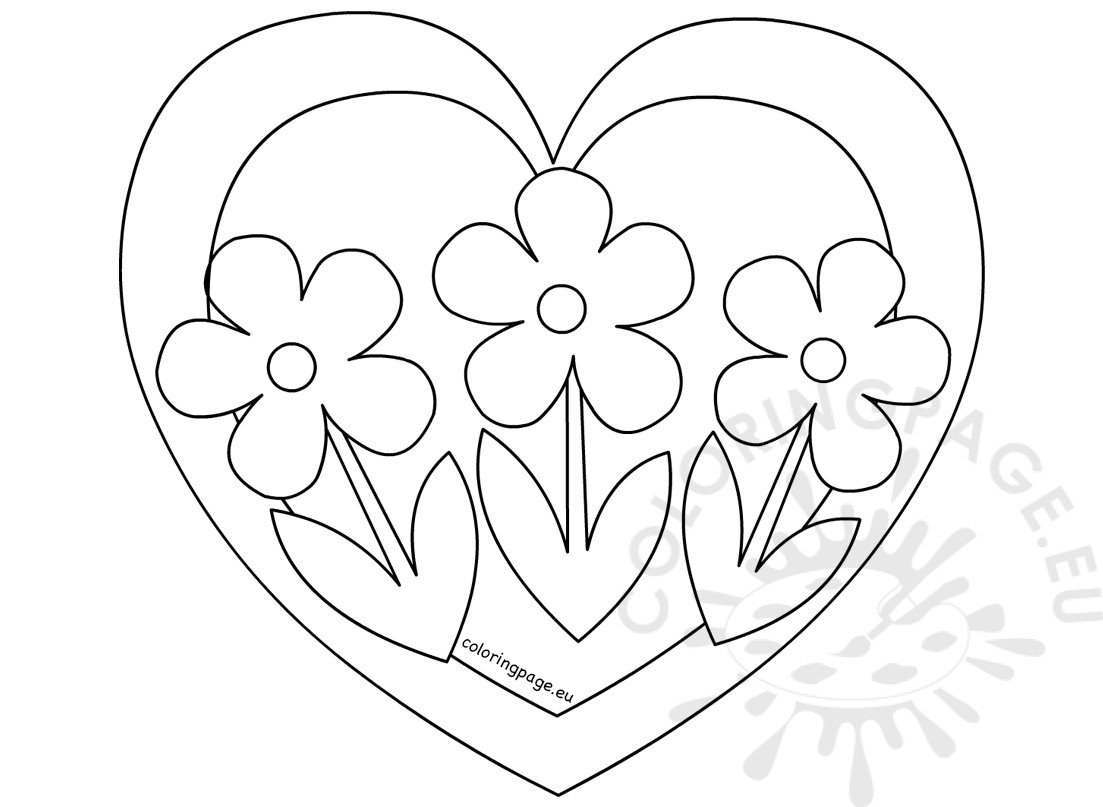 coloring pages heart - www coloring pages of birds with s roses www best free