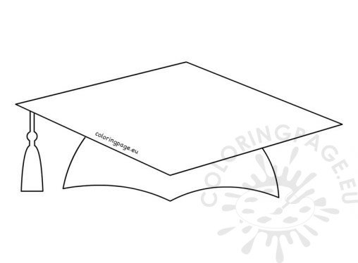 graduation coloring pages 2017 - graduation hat template 28 images best printable