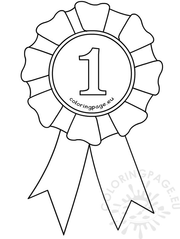 Award Ribbon Template Coloring Page