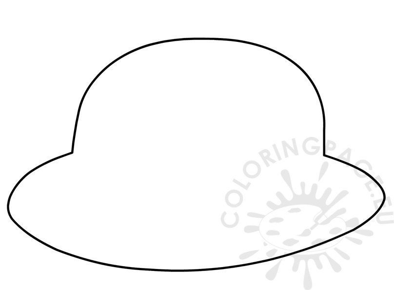 Hard hat page for preschool coloring pages for Firefighter hat template preschool