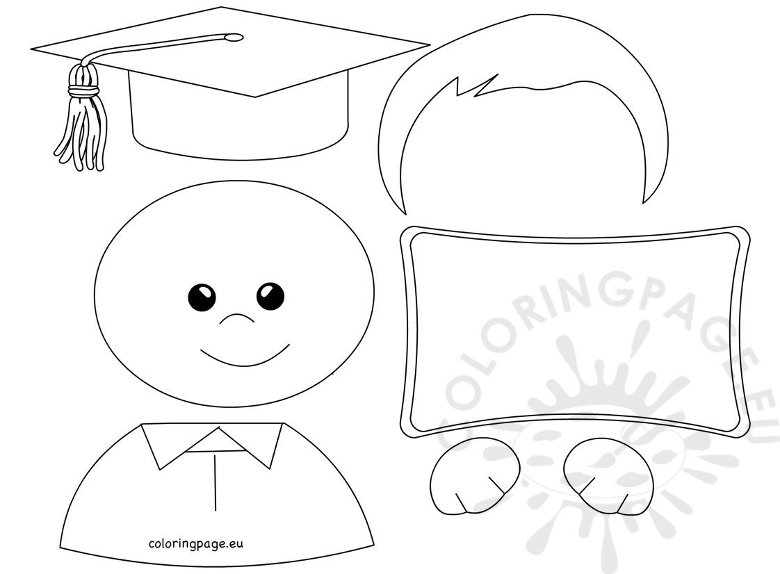 Boy Graduated Kindergarten template
