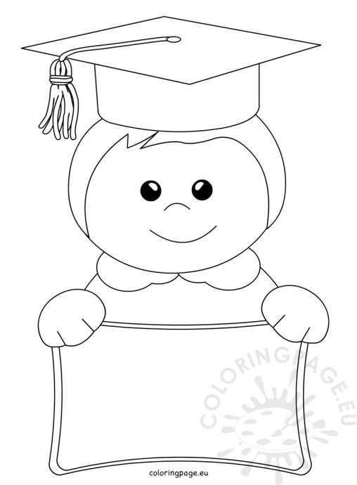 School Coloring Page Boy And Template For Kindergarten