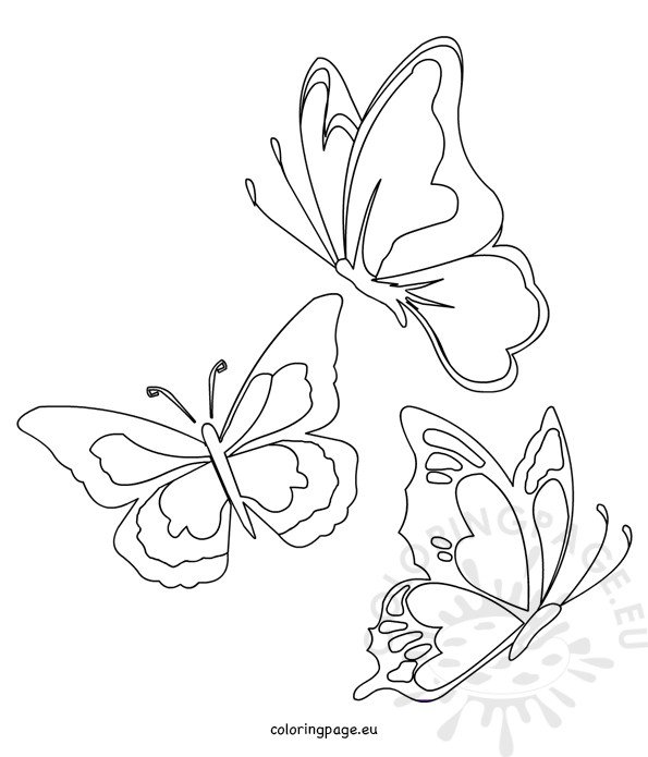 shape butterfly coloring pages - photo#11