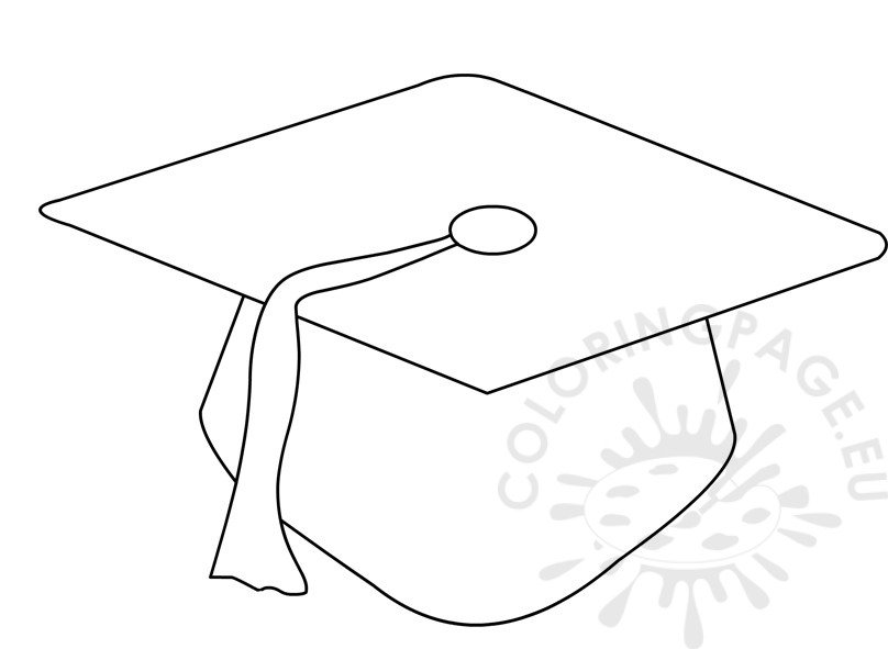 Graduation cap coloring pictures to pin on pinterest for Graduation cap and diploma coloring pages