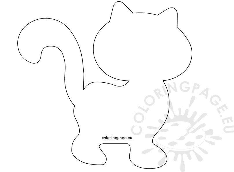 Cat Cut Out Template.