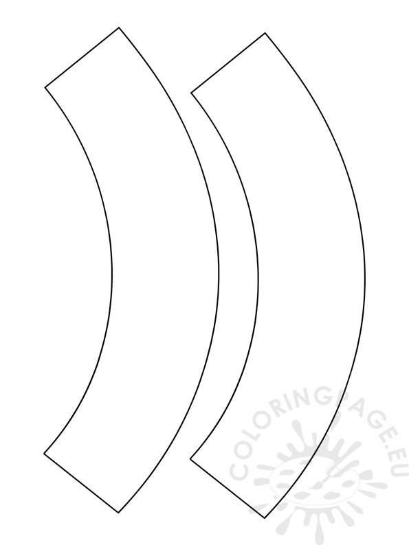 Blank Cupcake Wrapper Template Coloring Page