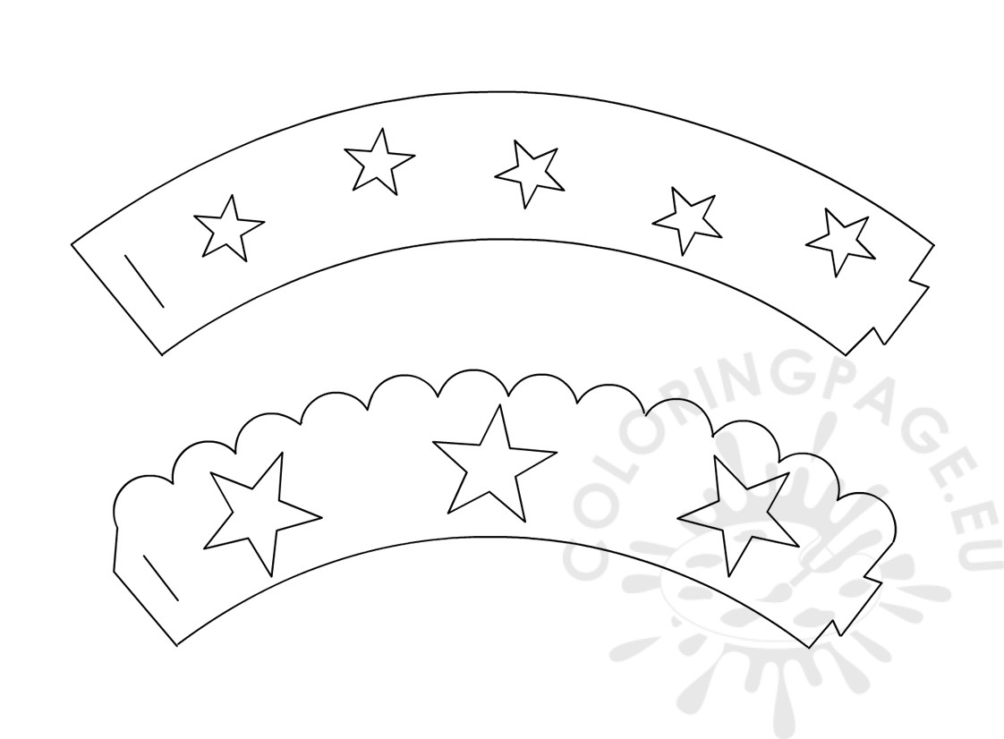 cupcake wrapper template 4th of july coloring page