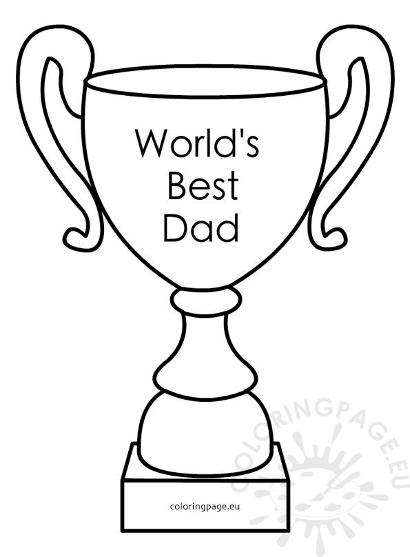 World's Best Dad Award Trophy