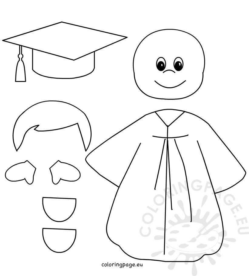 preschool art pattern and coloring pages | Preschool Graduation Boy patterns – Coloring Page